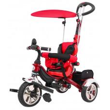 Inlea4Fun SporTrike CLASSIC AIR tricikli tolókarral és tetővel - Piros Előnézet