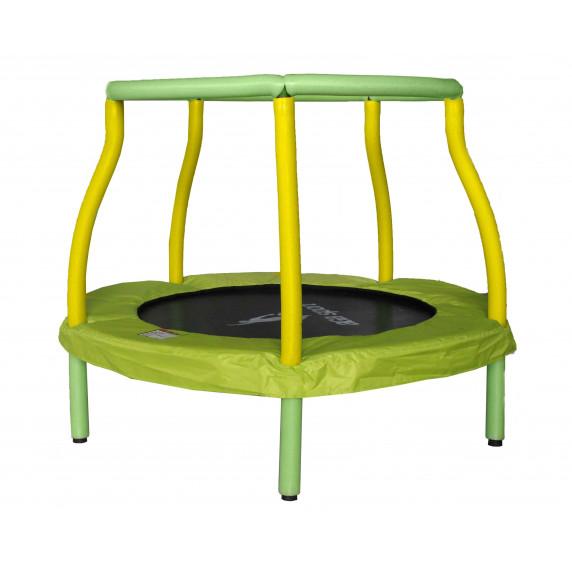 Aga gyerek trambulin 116 cm - Világoszöld/sárga