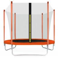 Aga SPORT FIT 305 cm trambulin belső védőhálóval - Narancssárga