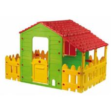 Inlea4Fun FARM House 72560 játszóház kerítéssel és terasszal Előnézet