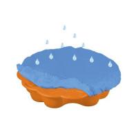 Inlea4Fun Margaréta homokozó takaróval - narancssárga