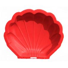Nagy Kagyló homokozó - piros Előnézet