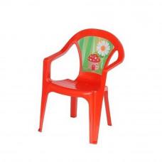 Inlea4Fun műanyag szék gyerekeknek - Piros