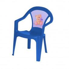 Inlea4Fun műanyag szék gyerekeknek - Kék