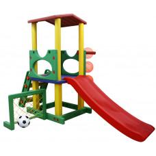 Inlea4Fun kerti játszótér csúszdával és sporteszközökkel 230 cm Előnézet