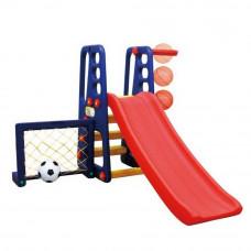 Inlea4Fun kerti játszótér állítható csúszdával és sporteszközökkel 167 cm Előnézet
