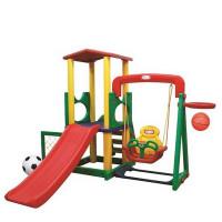 Inlea4Fun XL mega kerti játszótér csúszdával és hintával 244 cm