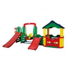Inlea4Fun 4M kerti játszótér 2 db csúszdával és hintával 310 cm Előnézet