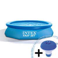 INTEX 28122NP Easy Set medence 305x76 cm papíszűrős vízforgatóval + ajándék klóradagoló