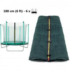AGA belső védőháló 180 cm átmérőjű trambulinhoz 6 rudas - Zöld Előnézet