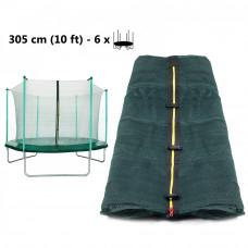 AGA belső védőháló 305 cm átmérőjű trambulinhoz 6 rudas - sötét zöldv Előnézet