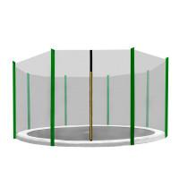Külső védőháló 366 cm átmérőjű trambulinhoz 8 rudas AGA - Fekete/sötét zöld