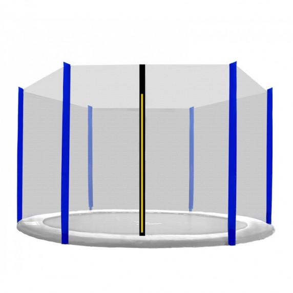 Külső védőháló 305 cm átmérőjű trambulinhoz 6 rudas SPARTAN - Kék