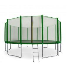 AGA SPORT PRO 460 cm trambulin + létra és cipőtartó - Sötét zöld Előnézet