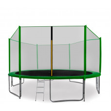 AGA SPORT PRO 430 cm trambulin + létra és cipőtartó - Sötét zöld Előnézet