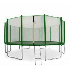 AGA SPORT PRO 518 cm trambulin + létra és cipőzsák - Sötét zöld Előnézet