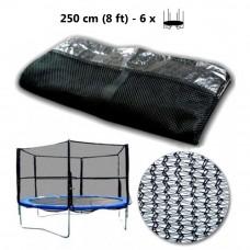 Külső védőháló 244 cm átmérőjű trambulinhoz 6 rudas SPARTAN - Fekete