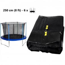 Belső védőháló 250 cm átmérőjű trambulinhoz 6 rudas AGA - Fekete Előnézet