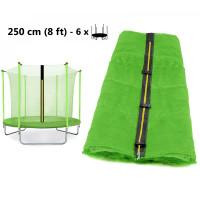 AGA belső védőháló 250 cm átmérőjű trambulinhoz 6 rudas - Világos zöld