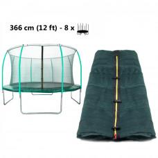 AGA belső védőháló 366 cm átmérőjű trambulinhoz 8 rudas - felső köríves - Világos zöld Előnézet