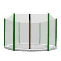Külső védőháló 250 cm átmérőjű trambulinhoz 6 rudas AGA - Fekete/sötét zöld