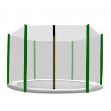 AGA védőháló 250 cm átmérőjű trambulinhoz 6 rudas - Sötét zöld Előnézet