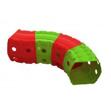 Játszó alagút 153x109x51 cm Inlea4Fun - piros/zöld Előnézet