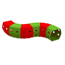 Játszó alagút 240x151x51 cm Inlea4Fun - piros/zöld Előnézet