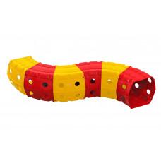 Játszó alagút 240x151x51 cm Inlea4Fun - sárga/piros Előnézet