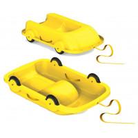 Univerzális bob szánkó gurulós kocsi 2az1-ben Inlea4Fun - Sárga