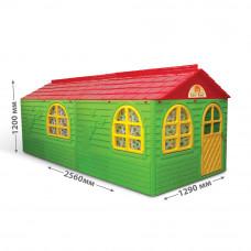 Kerti játszóház 256x129x120 cm Inlea4Fun DANUT - Zöld Előnézet