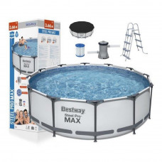 Medence papírszűrős vízforgatóval 366x100 cm BESTWAY 56418 Steel Pro Max