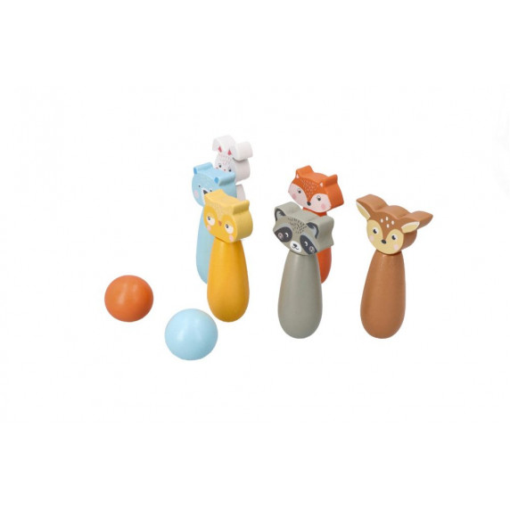 Fa bowling teke készlet ADAM TOYS - Állatos