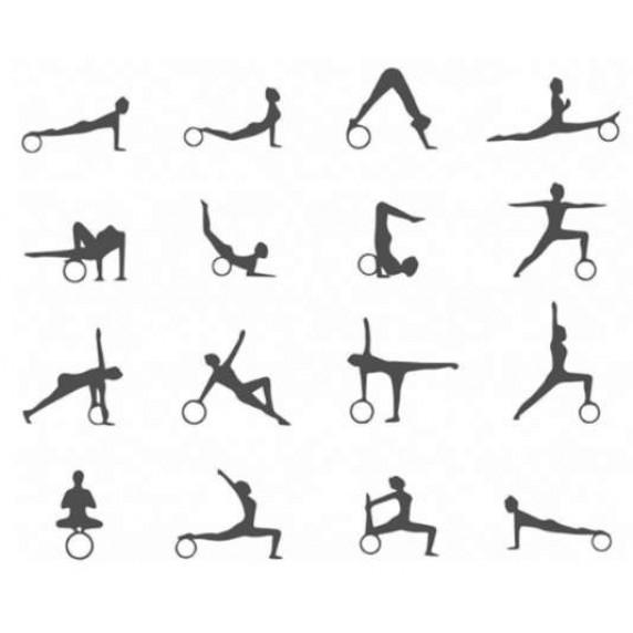 Jógakerék MASTER Yoga Power System - 32 cm