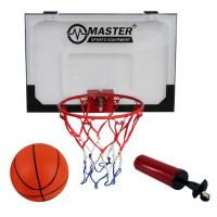 Kosárlabda palánk labdával és pumpával 45x30 cm MASTER