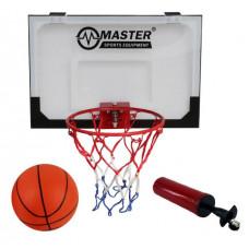 Kosárlabda palánk labdával és pumpával 45x30 cm MASTER Előnézet