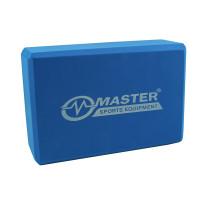 Jógatégla MASTER Yoga Block 23x15x7,5 cm - kék