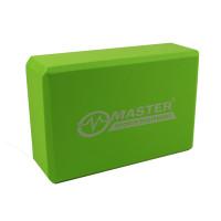 Jógatégla MASTER Yoga Block 23x15x7,5 cm - zöld