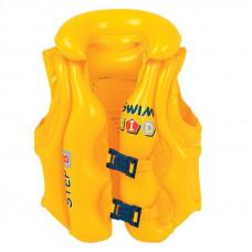 Felfújható mentőmellény gyerekeknek JILONG 46X42 cm - sárga Előnézet