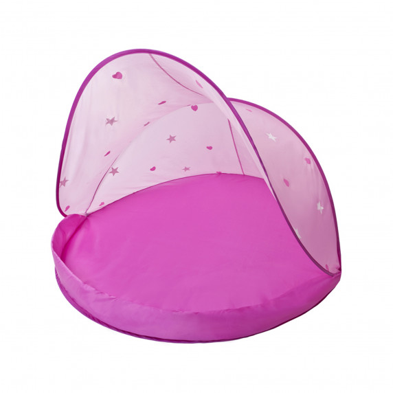 Strandsátor labdákkal Tent Pink Inlea4Fun - Rózsaszín