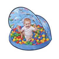 Strandsátor labdákkal Tent Blue Inlea4Fun - Kék