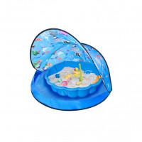 Strandsátor homokozóval Tent Blue Inlea4Fun - kék