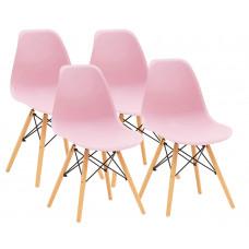 Aga Műanyag étkezőszék 4 db - rózsaszín Előnézet