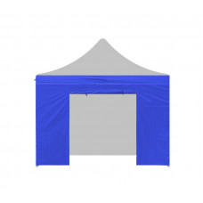 AGA oldalfal bejárattal kerti sátorhoz 3x3 m - Kék Előnézet
