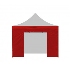 AGA oldalfal bejárattal kerti sátorhoz 2x2 m - Piros Előnézet
