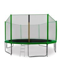 AGA SPORT PRO 400/396 cm trambulin + létra és cipőtartó - Sötét zöld