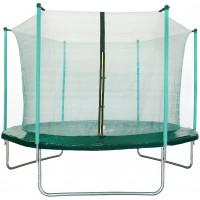 Aga SPORT FIT 305 cm trambulin belső védőhálóval - Sötét zöld