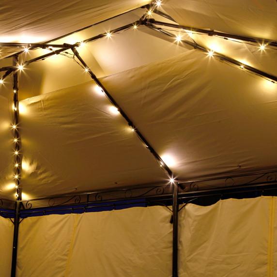 Kerti pavilon LED világítással LINDER Exclusiv MC3646 - Kávé