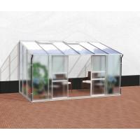 VITAVIA IDA üvegház 7800 matt üveg 4 mm + PC 6 mm - Ezüst