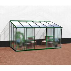 VITAVIA IDA üvegház 7800 matt üveg 4 mm + PC 6 mm - Zöld Előnézet